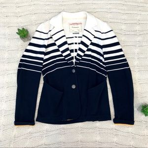 {Cartonnier} Anthropologie Striped Captain Jacket